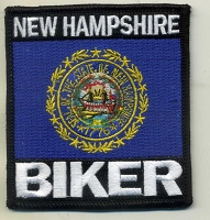 New Hampshire Biker patch 3.5x3.2